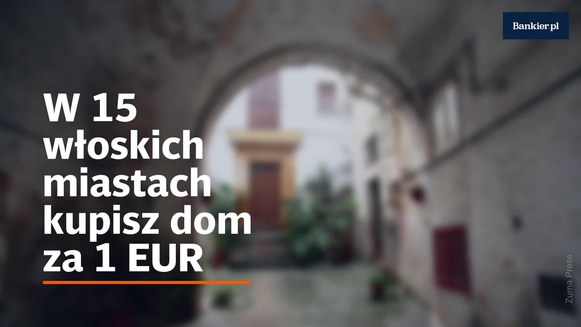 W 15 włoskich miastach kupisz dom za 1 EUR