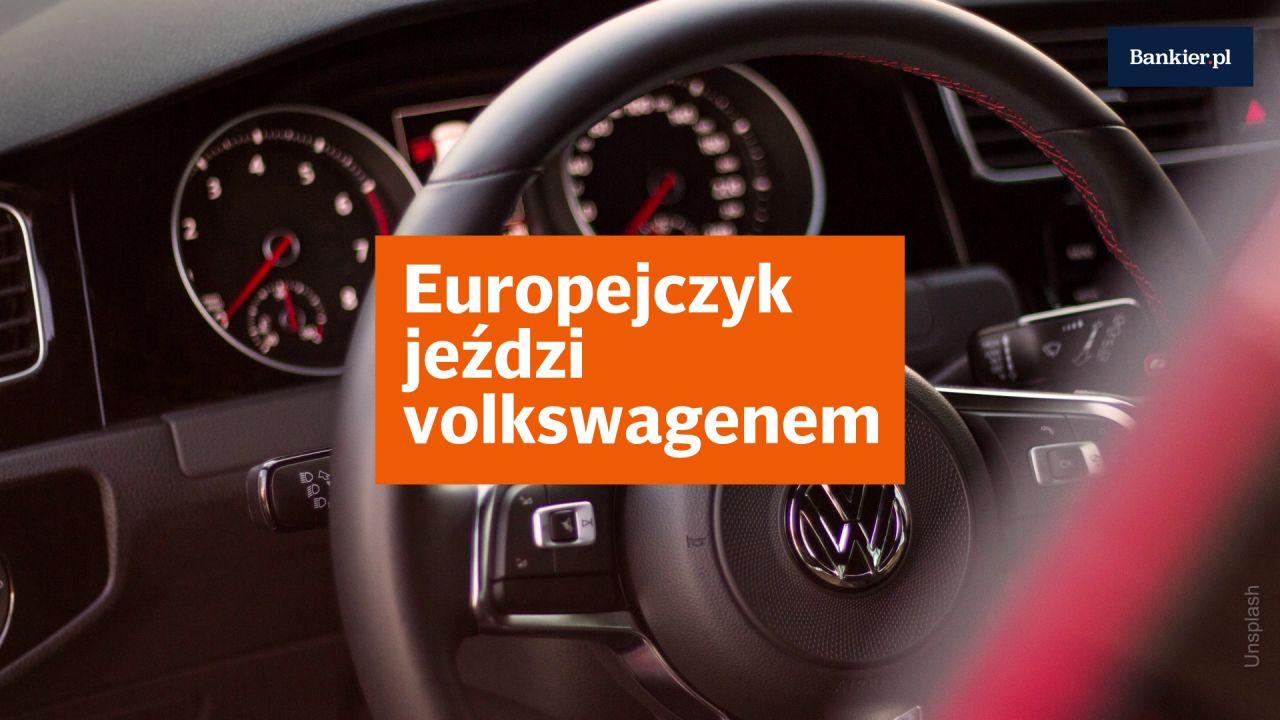 Europejczyk jeździ volkswagenem