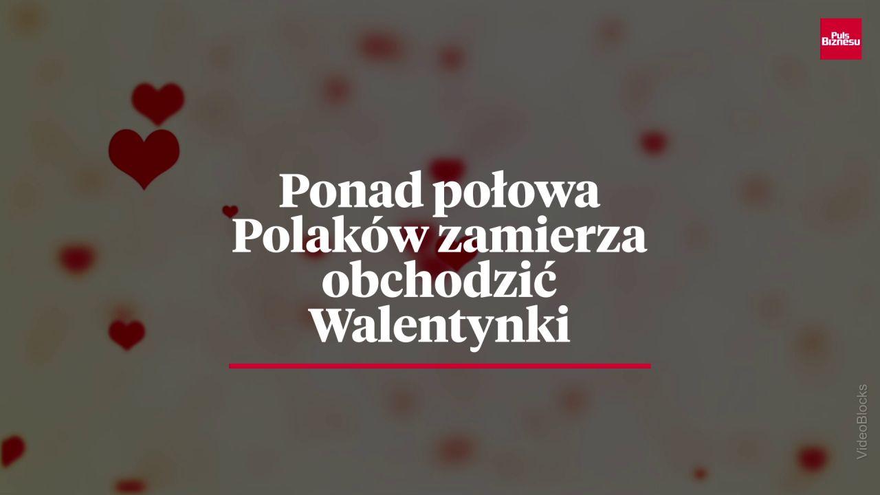 Ponad połowa Polaków zamierza  obchodzić Walentynki