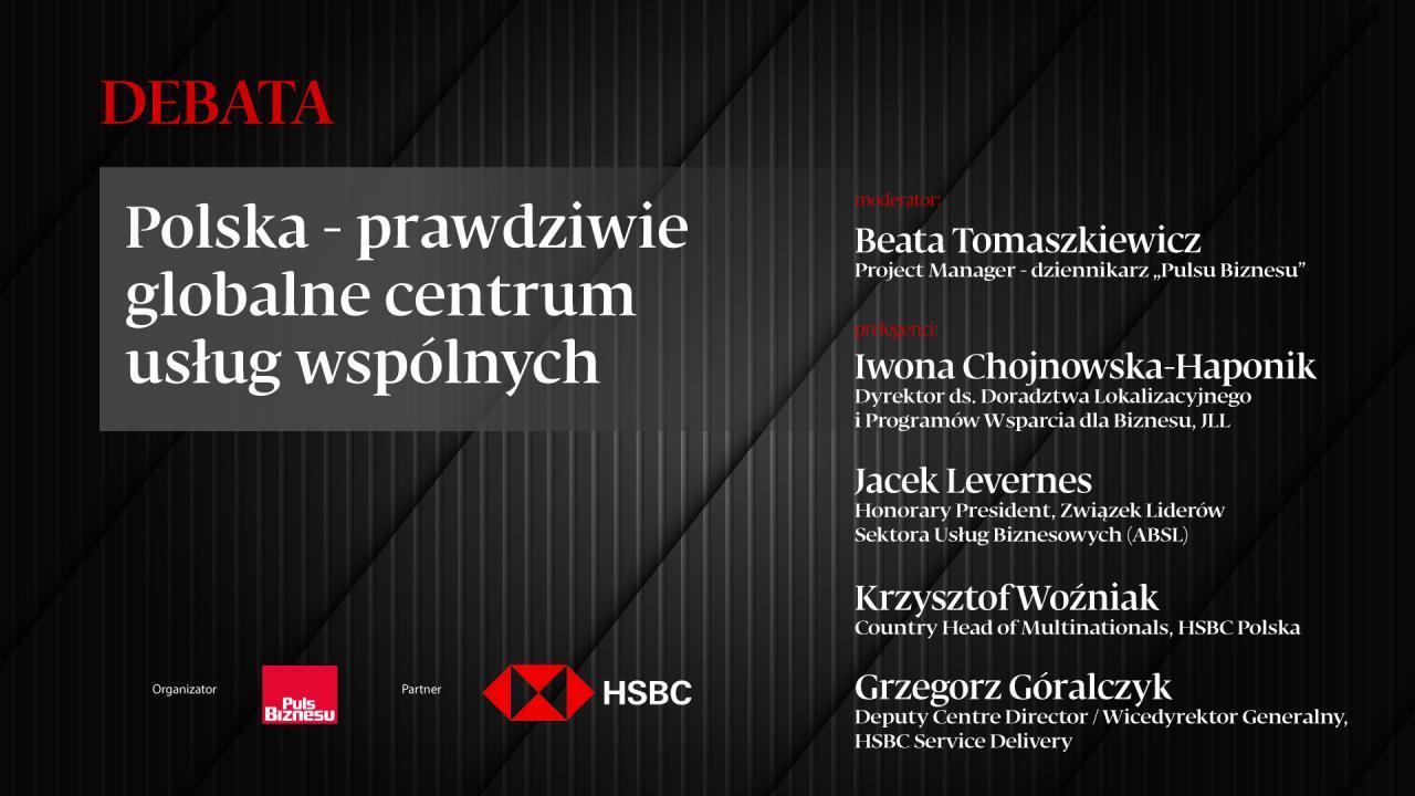 Debata: Polska - prawdziwe globalne centrum usług wspólnych