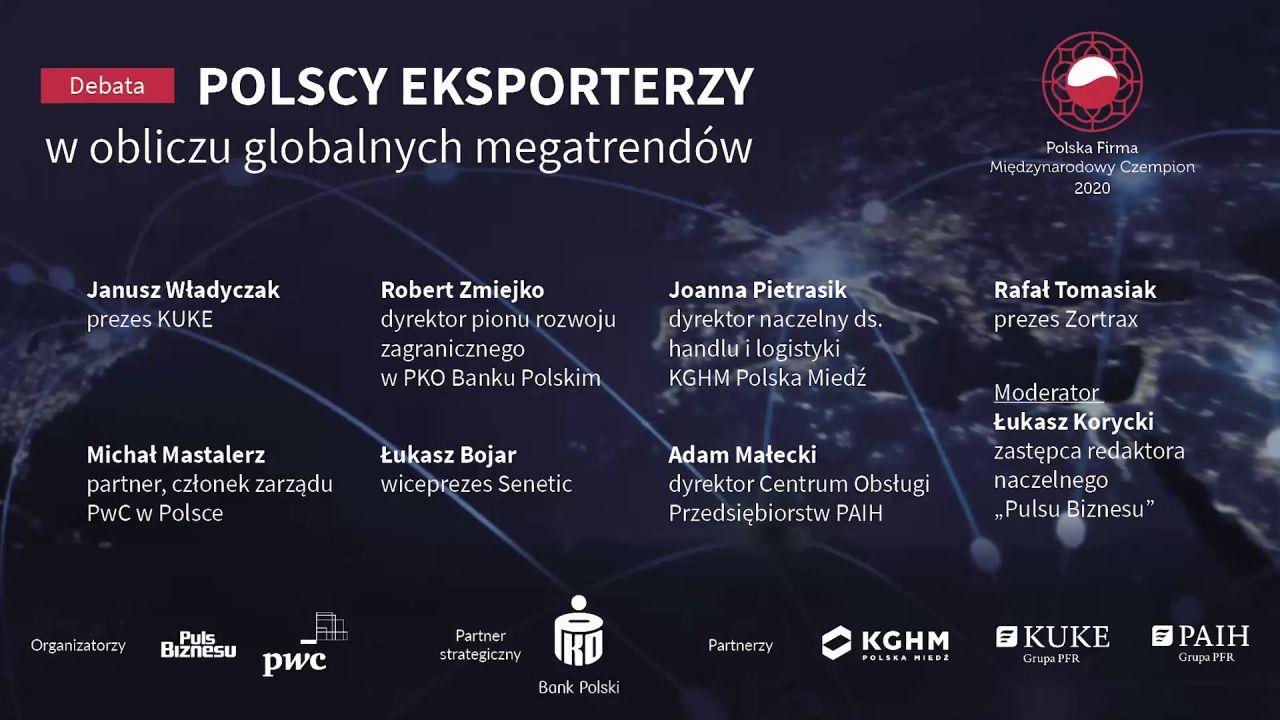 """Debata """"Polscy eksporterzy w obliczu globalnych megatrendów"""""""