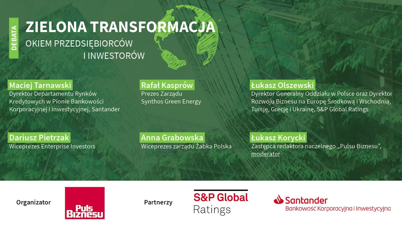 Debata: Zielona transformacja okiem przedsiębiorców i inwestorów