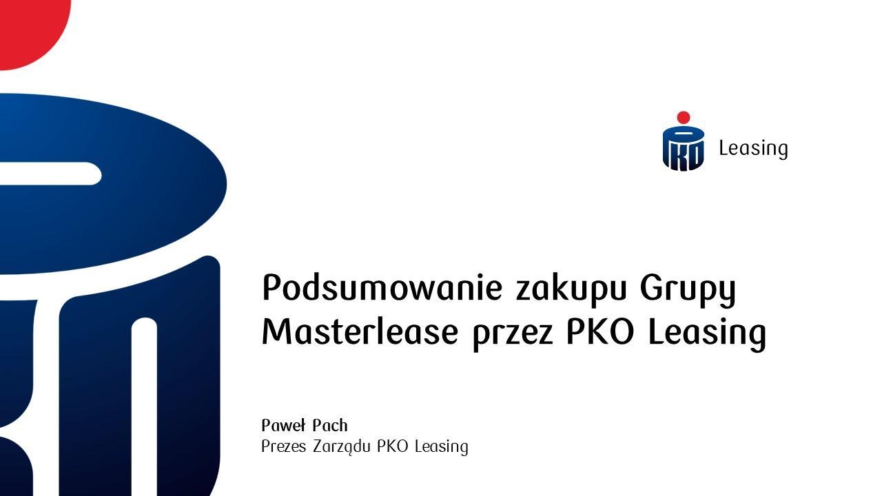 Masterlease i Automarket - pierwsze podsumowanie wyników w strukturach Grupy PKO Leasing