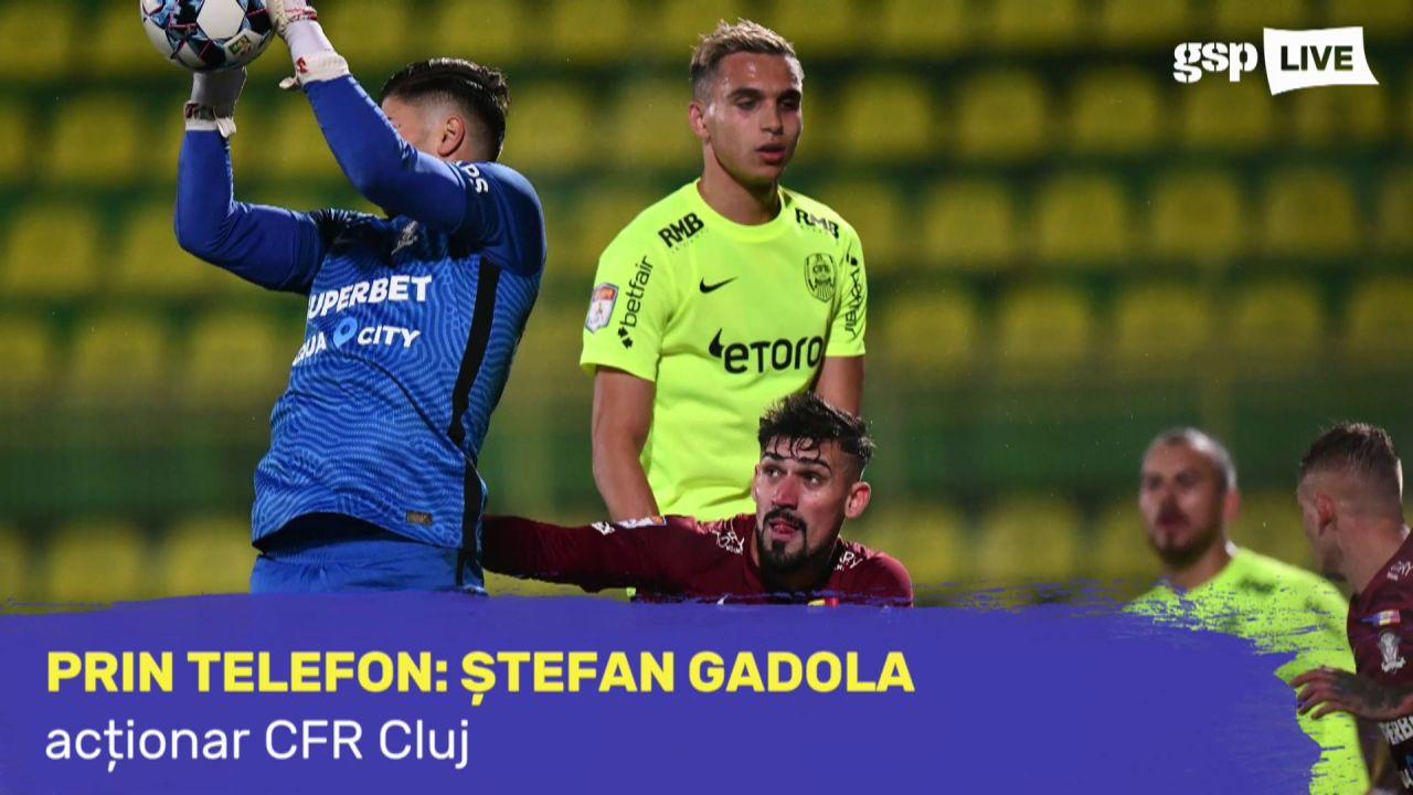 """Ștefan Gadola, supărat după înfrângerea CFR-ului cu Rapid: """"Echipa nu s-a mobilizat"""""""