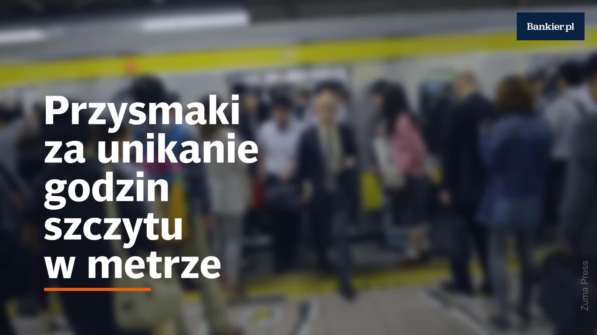 Przysmaki za unikanie godzin szczytu w metrze